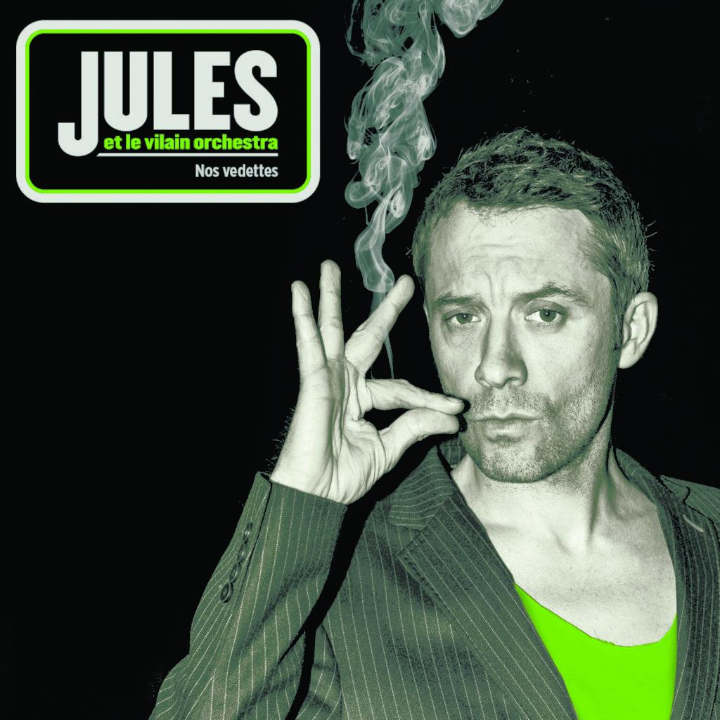 """couverture de l'EP 7 titres de Jules """"Nos Vedettes"""""""