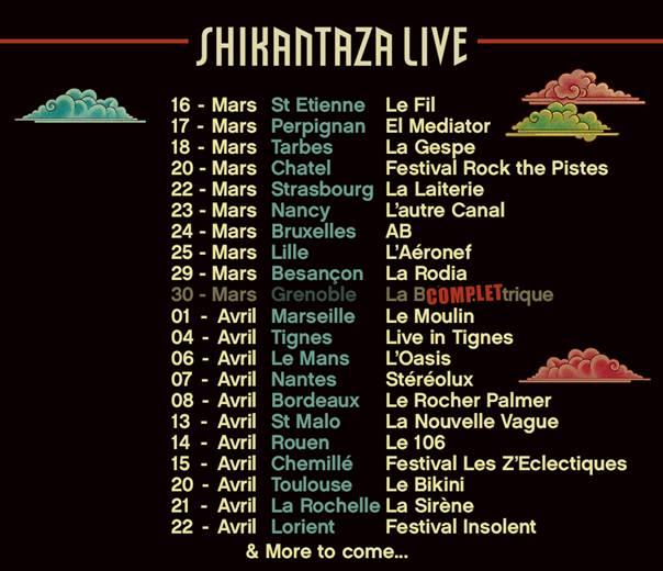 dates de la tournée du collectif Chinese Man pour le début 2017
