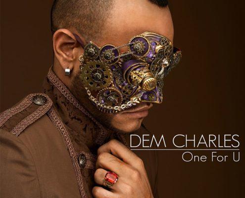 Sur la pochette de One for U de Dem Charles l'artiste conserve encore son masque